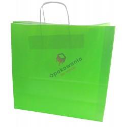 Torba papierowa zielona jasna 400/180/390 1szt